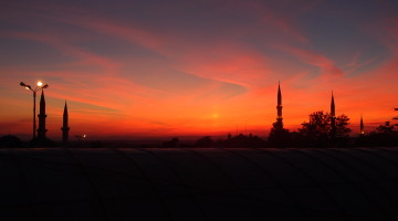 Sunset from Selimiye Mosque in Edirne