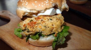 Chick pea and Lentil Burger