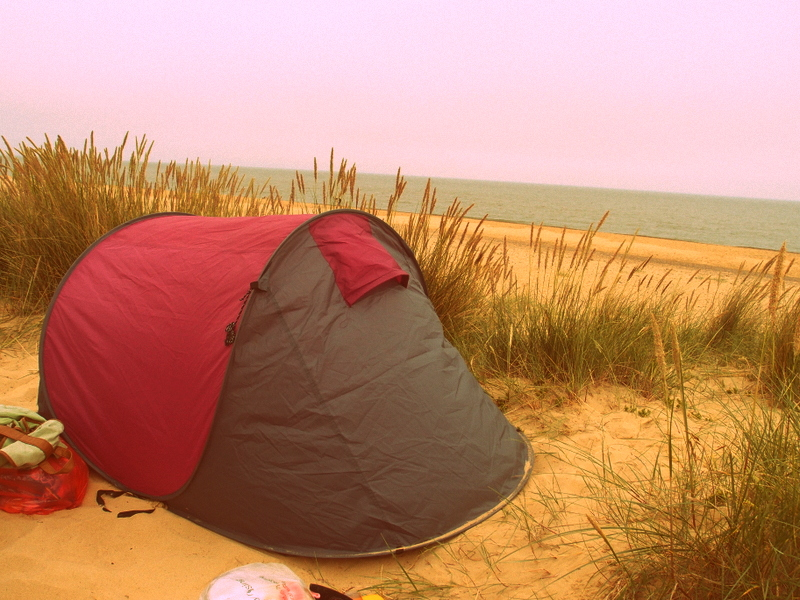 Sleeping on a Beach in England