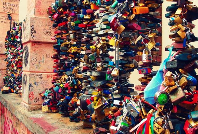 Love locks in Prague