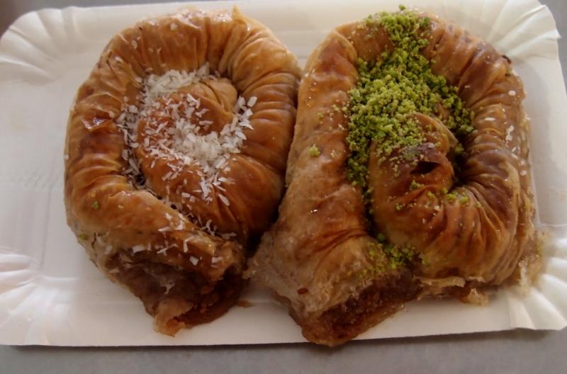 Two massive pieces of Ottoman baklava
