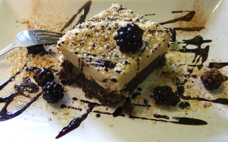 Raw Chocolate and Blackberry Cake