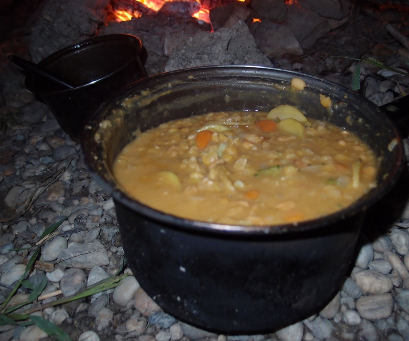 Pea Stew with carrots, potatoes, and onions