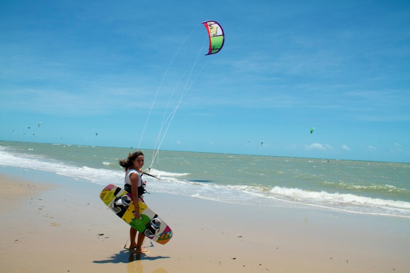 Mirha's Number 3: Learning to Kiteboard