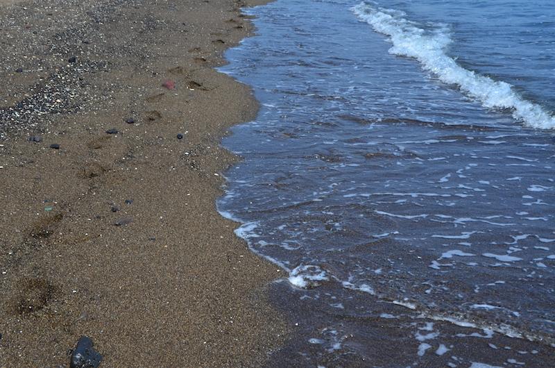 A final barefoot beach walk