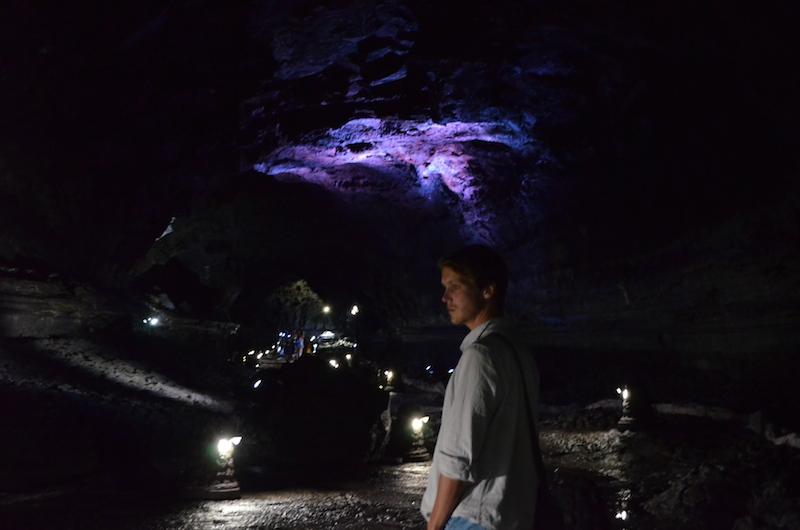 Found a cute boy in a cave