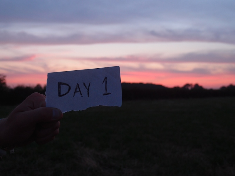 Day 1: Sleeping in a farmer's field after a long first day