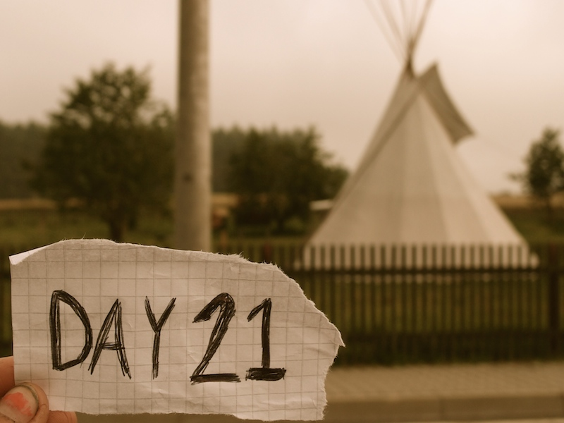 Day 21: Finding a teepee in western Czech Republic