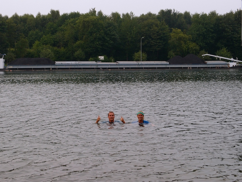 Day 9: Swimming in the Rhine River, Germany