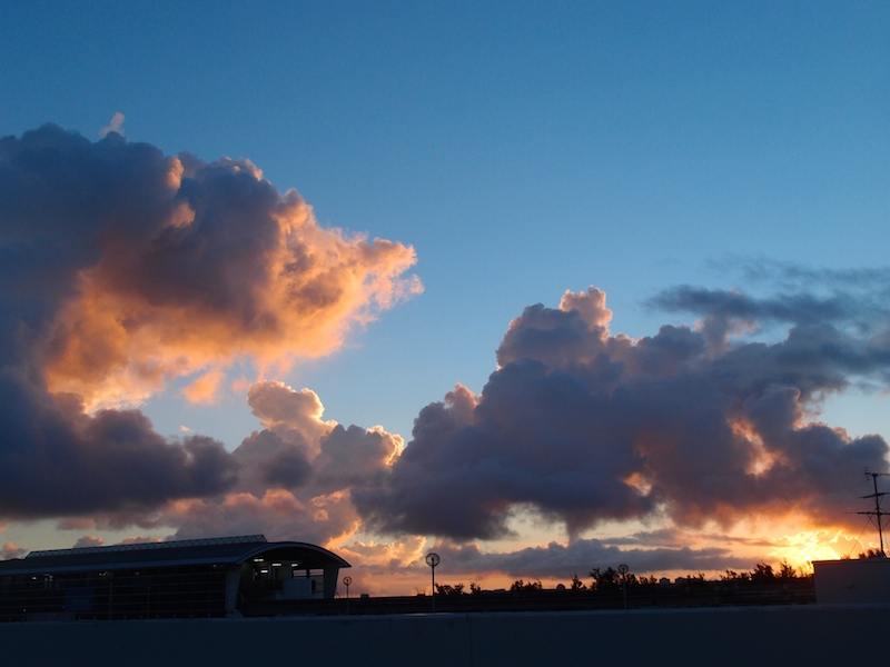 Sunrise from the airport, Naha City