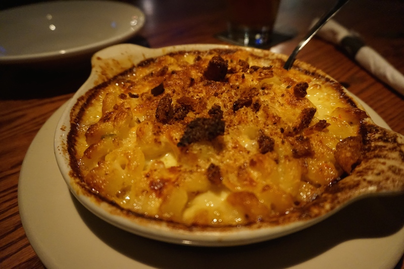 Five-cheese Mac&Cheese with red and green peppers and scallions- The Mackinaw Brewing Company