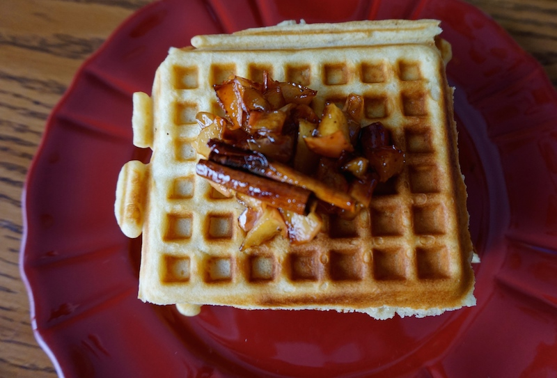 Last but not least, homemade waffles and apple cinnamon compote- a la Me and my parents' waffle maker